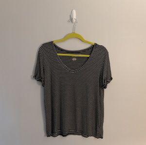 3/$25 AEO Soft & Sexy Striped Boxy V Neck Tee